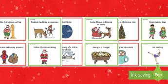 Christmas Charades Cards - ESL Christmas Vocabulary Resources