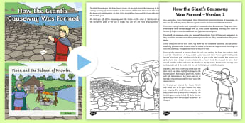 How the Giant's Causeway Was Formed Activity Pack - Fiction, non-Fiction, myth, scientific, geology, rock, Basalt