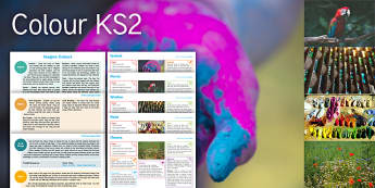 Imagine Colours KS2 Resource Pack - Paint, Festival, Parrot, Window, Flower, Colour