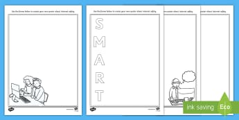 KS1 Safer Internet Day Design a Poster Activity Sheet Pack - Safer Internet Day, Internet safety, online safety, poster templates, worksheet