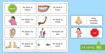 Different Illnesses Card Game Spanish  - Spanish, Vocabulary, KS2, parts, body, illness, sickness, ourselves, card, game,Scottish, dual langu