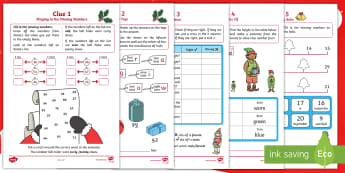 KS1 The Mystery of the Missing Reindeer Bells Maths Game - festivals, calculations, place value, addition and subtraction, problem solving, y1 and y2