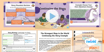 The World: The Strangest Shop in the World: Story Writing 6 Y6 Lesson Pack - Finish A Story, Writing, Pie Corbett, Story Mountain, Talk For Writing, structure, build-up, opening