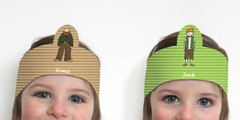 Jack and the Beanstalk Role Play Headbands - stories, role play