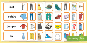 Clothes Shop Word Cards - Clothes shop Role Play, clothes shop resources, shop, till, buy, money, clothes, ourselves, shoes, role play, display, poster, Word cards, Word Card, flashcard, flashcards,