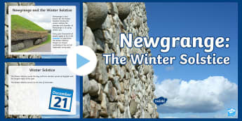 Newgrange: The Winter Solstice PowerPoint - newgrange, winter solstice, powerpoint, shortest day of the year,Irish