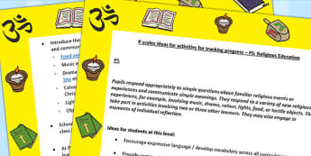 P Scales Ideas for Activities for Tracking Progress P5 RE - RE