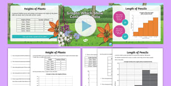 KS2 Continuous Data Bar Graphs Maths Resource Pack - Continuous data, bar Chart, histogram, data handling, statistics, table