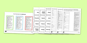 Non-Fiction Key Language Terms Resource Pack - non-fiction, key language terms, resource, pack
