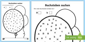 Thematisierten Buchstaben Arbeitsblatt - buchstaben,,zahlen,arbeitsblatt, ,German