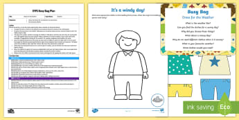 EYFS Dress for the Weather Busy Bag Plan and Resource Pack - clothes, dressing, self care, self-care, dressing up, weather, hot, cold, sun safety