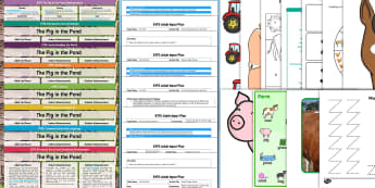 EYFS Lesson Plan Enhancement Ideas and Resource Pack to Support Teaching on The Pig in the Pond - planning, Early Years, early years planning, continuous provision, adult led, The Pig in a Pond, Pig in the Pond, Martin Waddell, farm