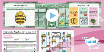 Computing: Programming Toys: Bee-Bot Toy Shop Part 1 Year 1 Lesson Pack 4 - coding, algorithms, key stage 1, Robots, ICT, Beebot