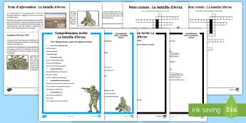 Pack de ressources : La bataille d'Arras - Histoire, history, Arras, bataille, battle, Cycle 3, Première Guerre Mondiale, First World War, Fra