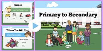 Primary to Secondary School Transition PowerPoint - Year 6 to Year 7 Transition