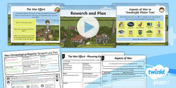 PlanIt Y5 World War II: To Support Teaching on Goodnight Mister Tom Lesson Pack Non-Chronological Reports (1)