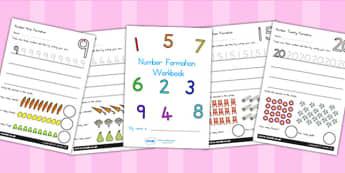 Number Formation Workbook 0 20 - number formation, motor skills, overwriting