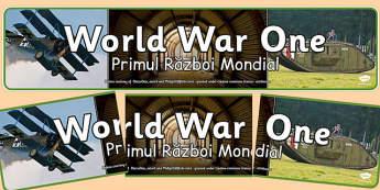 World War One Photo Display Banner Romanian Translation - romanian, world war one