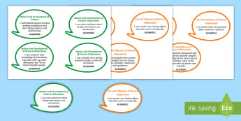 Year 3 Australian Curriculum Science as a Human Endeavour: I Can Speech Bubbles - Australian science, science assessment, grade 3, learning intentions, science outcomes, walt, tib, w