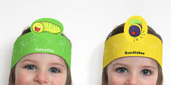 Roleplay Headbands to Support Teaching on The Crunching Munching Caterpillar - role play