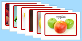 Fruit Flashcards - fruit, flashcards, flash cards, food, eal, activity