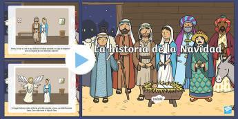 Presentación: La historia de la Navidad - Historia de la navidad, nacimiento de jesus, nacimiento de jesús, pesebre, español