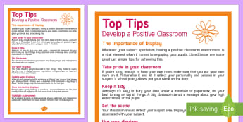 The Importance of Display Materials Adult Guidance - display, Classroom Management, behaviour, expectations, classroom Environment