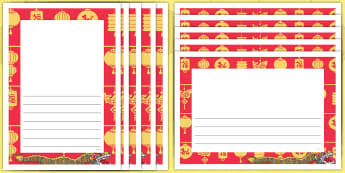 Dragons in the City: The Story of Chinese New Year Page Border Pack - chinese new year, Twinkl Originals, Fiction, KS1, EYFS, Independent Writing, english, literacy