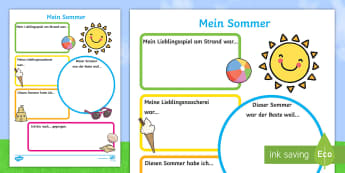 Mein Sommer - german, seasons, holidays, terms