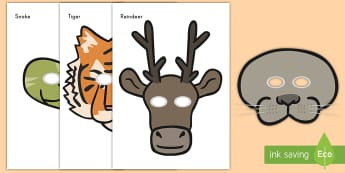 Zoo Role-Play Masks - zoo, role-play, masks, pretend, animals,