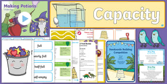 Childminder Capacity Filling and Emptying EYFS Resource Pack - Child Minder, childminding, Maths, Mathematics, weight, Sensory Play, Full, shape space and measure