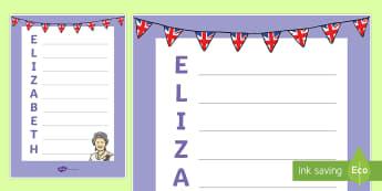 Queen Elizabeth Acrostic Poem - Australia English: The Queen's Birthday, acrostic poem, poetry, Queen Elizabeth, Australia