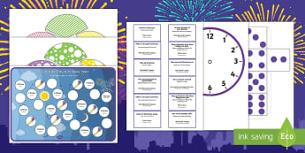 Counting Down to New Year Board Game English/Portuguese - Counting Down to New Year Board Game - counting, new years, game, countng, couting, happynewyear, ne