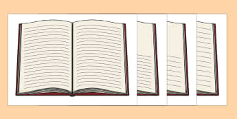 Open Book with Lines Writing Template - open book, writing, template, handwriting, guided reading