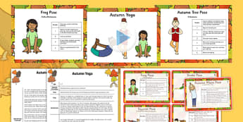 Autumn Yoga Story PowerPoint Pack - yoga story, yoga, story, powerpoint, pack, autumn