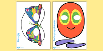Story Role Play Masks to Support Teaching on The Very Hungry Caterpillar - role play mask, role play, The Very Hungry Caterpillar,  Eric Carle, resources, Hungry Caterpillar, life cycle of a butterfly, days of the week, food, fruit, story, story book