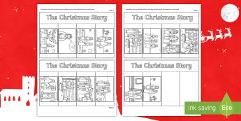 Christmas Story Writing Flapbook - Templates, First Level, 1st level, Writing Activities, workbook,Scottish