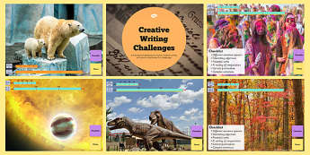 Creative Writing From Images Challenge PowerPoint - writing