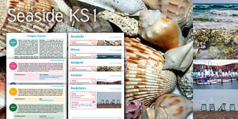Imagine Seaside KS1 Resource Pack - seashells, waves, rockpool, harbour, deckchairs, Maths, counting and data collection, English, creat