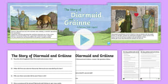 The Story of Diarmuid and Gráinne Powerpoint and Activity Pack-Irish - Celtic, The Fianna, Fionn, Irish Tales, Irish Stories,Irish