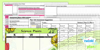 Science: Plants Year 2 Unit Assessment Pack