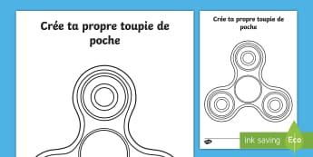 Feuille d'activités : Créer une toupie de poche - Cycle 1, cycle 2, cycle 3 Classroom Organisation, organisation de la classe, toupie, hand spinner, f