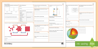 KS3 Chemistry Revision Activity Mat - elements, compounds, thermal decomposition, metals, rock cycle, periodic table