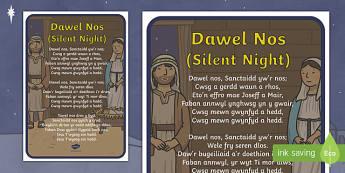 Silent Night Song Lyrics Welsh