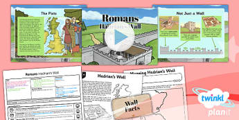 History: Romans: Hadrian's Wall LKS2 Lesson Pack 4
