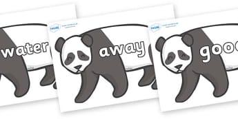 Next 200 Common Words on Pandas - Next 200 Common Words on  - DfES Letters and Sounds, Letters and Sounds, Letters and sounds words, Common words, 200 common words