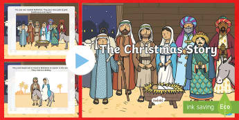 The Nativity Christmas Story PowerPoint - Powerpoint, Nativity, Christmas, Jesus, Mary, Joseph