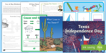 Free Texas Taster Resource Pack - Texas ELA, Texas Math, Texas Social Studies, TEKS, Texas Standards, Texas Independence, Texas Landma