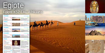 Imagine: Egypt KS2 Resource Pack Afrikaans - Egypt, Caravan, Symbols, Pyramids, Hieroglyphics, Alexandria, Sphinx, Mask, Tutankhamun, Pharaoh