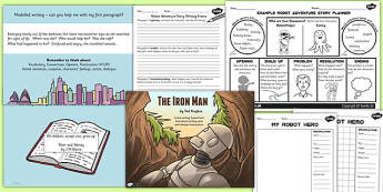 The Iron Man Inspired Story Writing Activity Pack - story books